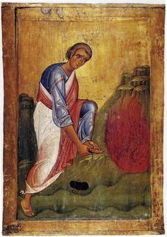 Icon of Moses and the Burning Bush, Mt Sinai.