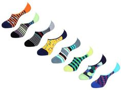 No Show Socks Value Pack by Unsimply Stitched fun colorful designs Combed Cotton Nylon Spandex Shark Socks, Mens Novelty Socks, No Show Socks, Your Style, Stockings, Stitch, Tights, Socks, Navy Tights