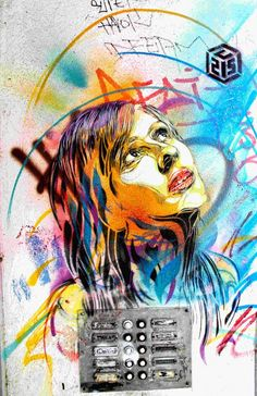 The french streetartist Christian Guémy aka C215 is known for his amazing stenciles. The subjekt in his works are homeles people, streetkids and anybody the society has forgotten. He also portraited himselfe and his daughter Nina wich became an stencil artists.