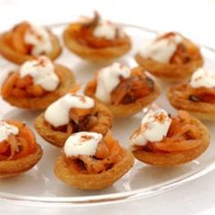 A picture of Delia's Little Croustades filled with Gravadlax and Soured Cream recipe