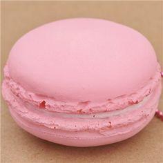 cute light pink macaron squishy cellphone charm kawaii 2