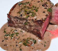 This tempting filet mignon is topped with a gourmet pan sauce that is incredibly easy to make. It's not only quick to make, but quite impressive.