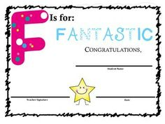 ABC AWARDS: 70+ End of the Year Alphabet theme award certificates for students to recognize their uniqueness :) Perfect for an end of the year award ceremony or celebration.