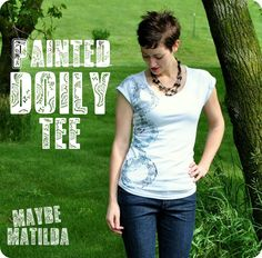 Maybe Matilda: Painted Doily Tee