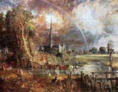 romanticism paintings | Salisbury/Meadows - Constable
