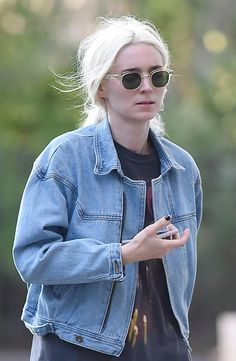Rooney Mara is now a bright white blonde.