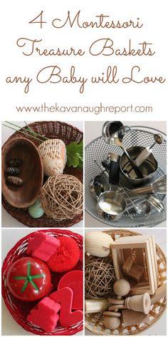 4 Montessori treasure baskets that any baby will love!