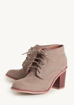Hitting The Road Lace-Up Booties   Modern Vintage Shoes