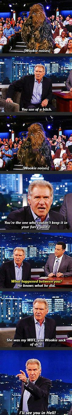 And this is why I love Harrison Ford!