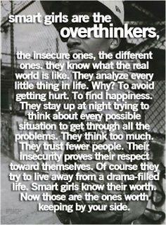 Smart girls are overthinkers