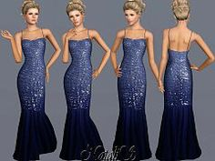 Sims 3 dress, gown, fashion, formal, female
