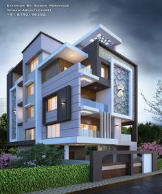 Modern House Elevation Designs In Bangalore Modern Residential House Bungalow Exterior by Sagar Bungalow Haus Design, Modern Bungalow House, Bungalow Exterior, Modern House Plans, Modern Houses, Modern Exterior House Designs, Cool House Designs, Modern House Design, Exterior Design
