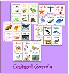 Free Animal Card Printables