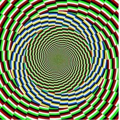 deep green flowing illusion tunnel art