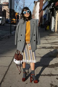 To Be Cool in Contemporary | Man Repeller // For some reason, I'm really digging this look--could be that color palette and vaguely collegiate aspirations. *o*