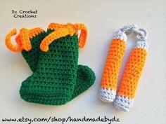 Crochet Ninja Turtle Photo Prop - Halloween Costume - Nunchaku - nunchucks - Ninja Turtle - Crochet - nunchucks - TMNT