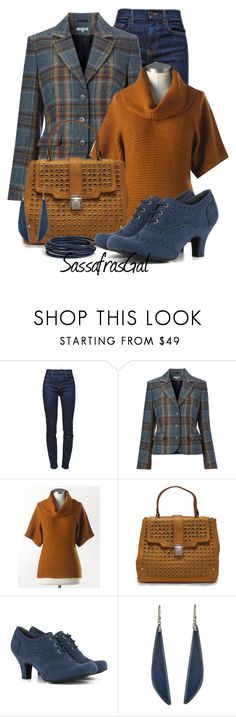 """""""Plaid Wool Blazer"""" by sassafrasgal ❤ liked on Polyvore featuring Proenza Schouler, Dickins & Jones, Coldwater Creek, Rare London, Vegetarian Shoes, Alexis Bittar and Nordstrom"""