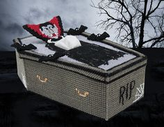 This dracula tissue box cover is a great addition to halloween decor.