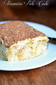 Look what I have! This new cake is unbelievable… It's a Tiramisu Poke Cake! This cake is made with white sheet cake, sprinkled with coffee and topped with mascarpone cream. This cake is made from scratch and you can find the recipes for everything below! I am a huge fan of Tiramisu and have been …