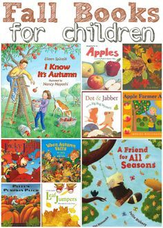 {15 Fall Books For Children} Great list from our Blog Ambassador @Allison McDonald of No Time for Flash Cards