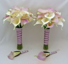 Tiffany Blue Calla Lilies | Reserved for jbrander- Real Touch Calla Lily Wedding Package in White ...