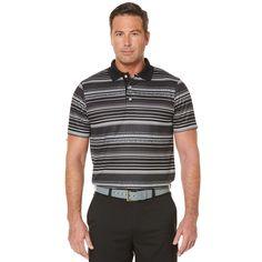 Big & Tall Grand Slam Classic-Fit Striped Airflow Golf Polo, Men's, Size: Xl Tall, Oxford