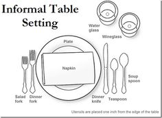 Cooking for just your family tonight? Learn how to set the table for an informal dinner.