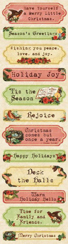 Rejoice Victorian Christmas Sticker by 4johnsongirls on Etsy, $1.25