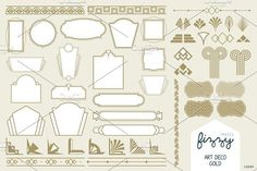 Art Deco Gold Vector Elements by Fizzy Images on @creativemarket