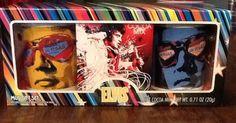 2 Elvis Presley Las Vegas 8 oz Beverage Mugs Gift Set & Cocoa Pak New In Box in Other   eBay Sold $14.50