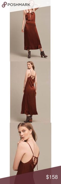 """NWT Anthropologie Arcadian Midi Dress by Lacausa NWT. Chic Anthropologie Arcadian Midi Dress by Lacausa.   ❤️Viscose, rayon ❤Midi silhouette  ❤Adjustable straps ❤Pullover styling ❤Machine wash  ❤Style No. 40470668 ❤Regular falls 57"""" from shoulder ❤Model is 5'10"""" Anthropologie Dresses Midi"""