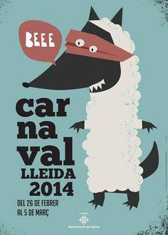 Lleida. Cartel Carnaval 2014.