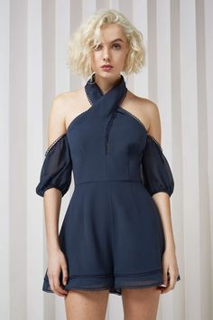 TWILIGHT DREAMS PLAYSUIT navy