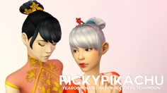 Pickypikachu: Tearoom Hair - Another Secret Santa Hair