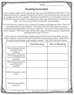 If you want your students to improve their oral reading fluency (expression, pace and accuracy) in a fun and easy way, download these recording sheets. All you need to do is pick a reading passage that's at your students independent reading level and then select a way for them to record themselves reading it aloud.