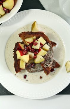 Amaretto & Almond French Toast, flowers on my plate