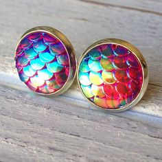 "1 DAY SPECIAL!Mermaid  Scale Stud Earrings These earrings are perfect for your nautical needs! A lovely addition to your summer outfit. Earrings have gorgeous iridescent colors. Measures 1/2"". Nickel & lead free. Bundle & save 15% on 3+ items!⚓️ Abbie's Anchor Jewelry Earrings"