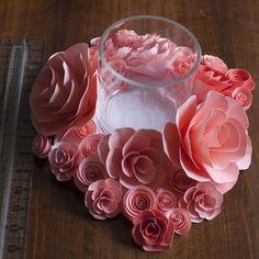 DIY Watercolor Paper Flowers Centerpiece
