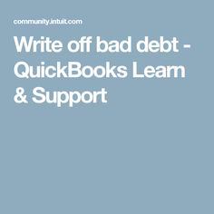 Letter of payment sample letter of payment payroll pinterest write off bad debt quickbooks learn support spiritdancerdesigns Choice Image