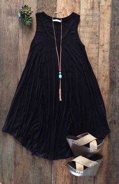 Shaw Dress - Black – Bungalow 123