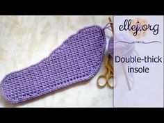 Free photo and video tutorial will help you learn how to make Crochet Slippers Insoles. Step-by-step photos, chart and description • Crochet Tutorials, Instructions and Patterns at ellej.org