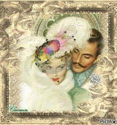 Coppia romantica vintage