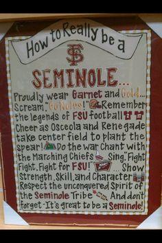 How to Really be a FSU Seminole
