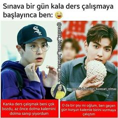 EXO İLE ŞİZOFRENİYE ADIM ADIM Comedy Zone, Best Caps, Funny Times, Chanbaek, Bts Boys, Funny Moments, Bts Memes, Chanyeol, Love You