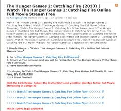 Watch The Hunger Games: Catching Fire Online Full Streaming Free