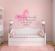 Horse Themed Bedrooms, Bedroom Themes, Bedroom Ideas, Bedroom Decor, Horse Wall Decals, Kids Wall Decals, Teen Wall Decor, Nursery Wall Decor, Name Wall Stickers
