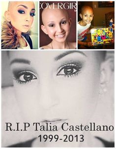 Talia was such an inspiration and encouragement to me while she was alive, and every time I go back and watch her videos it makes me want to cry. So beautiful. So young. So deserving of life. She taught me priceless things and I will NEVER, NEVER, forget that precious girls smile and laugh.