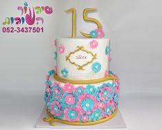 ruffle flowers cake cake by cakes-mania   עוגת פרחים אתנית מאת שיגעון העוגות - www.cakes-mania.com