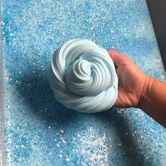 Jelly Slime, Slimy Slime, Foam Slime, Diy Fluffy Slime, Making Fluffy Slime, Blue Slime, Slime Vids, Glossy Slime, Slime And Squishy