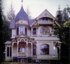 The house of my absolute dreams. Queen Anne Victorian house I'm the south with Spanish moss and lemonade on the sun porch, and a lake for skinny dipping.